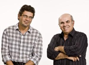 Os produtores Renato Barbieri e Marcio Curi